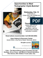 Meet renowned photographer Clyde Butcher in Islamorada in February 2014.