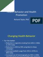 Health Behavior and Health Promotion (1)
