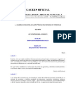 GACETA OFICIAL Ley Organica Del Ambiente 2007