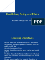 Health Law, Policy, And Ethics (Part 1a)