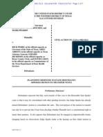 DeLeon v Perry PLAINTIFFS' RESPONSE TO STATE DEFENDANTS 1-17-2014