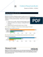 Human Events - Gravis - Marketing Results - PA General Election