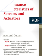 Performance Characteristics of Sensors