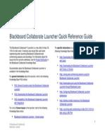 Blackboard Collaborate Launcher Quick Reference Guide