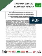 Comunicado Plataforma Estatal Por La Escuela Publica