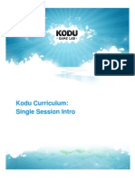 3. Kodu Curriculum_Single Session Intro