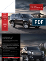 2015 Yukon Sales Reference Guide Brochure