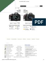 Nikon d3100 vs Nikon d3200