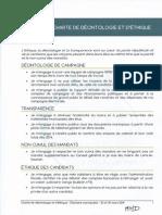 Charte de déontologie et d'éthique
