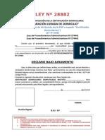 Declaracion Jurada Domicilio Con Ley