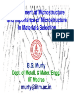 Microstructure Materials Selection