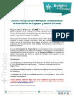 Boletin de Prensa Forma. Complementaria 29 Enero 2014