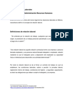 Las Relacionales Laborales, Marco Legal Ascari Diciembre 2013