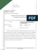 Motion to Quash Subpoena by RK - Notice of Errata