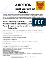 AWC Auction Flier -- 2014