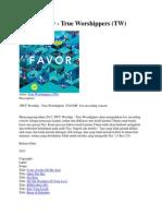 Album Favor - True Worshippers (TW)