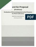 request for proprosal portfolio