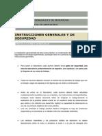 Instrucciones Generales y de Seguridad