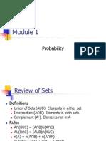 Module 1 Probability
