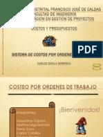 EXPOSICIÓN COSTEO POR ORDENES DE TRABAJO