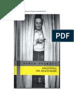 Pablo Oyarzún - Anestetica del ready-made