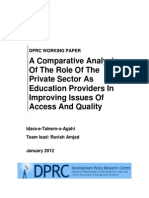 Comparative Analysis of Public and Private Sector in Access and Quality of Education ITA