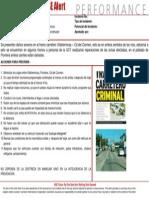 Alerta Tramo Carretera VHSA -CME