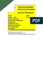 Letrero Tronadura PSG-NE