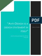 Anti Design Essay
