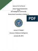 Worldwide Threat Assessment of the US Intelligence Community - 2014