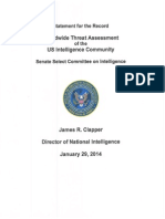 Worldwide Threat Assessment of the US Intelligence Community - 2014