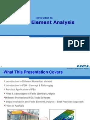 FEA Basics very imp ppt | Finite Element Method