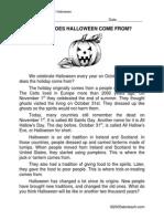 Elementary Halloween Origins