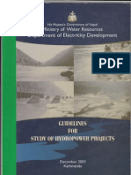Guidelines for Study of Hydropower Projects