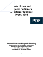 Organic fertilizer quality norms India