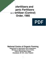 Organic fertilizer quality norms India