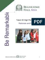 branksome talent id high performance program rationale