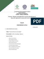 A31-68 Memoria Del Taller Sobre Identificacion de Recursos Naturales y Culturales en La Pila