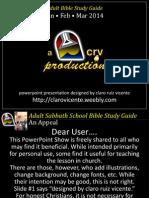 1st Quarter 2014 Lesson 5 Discipling the Sick Powerpoint Show
