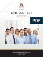 Aptitude Test for Employment