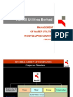 Ranhill Management of Water Utilities in Developing Countries