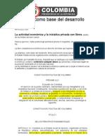El Articulo 333 Constitucion Politica de Colombia