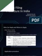 Patent Filling Procedure in India