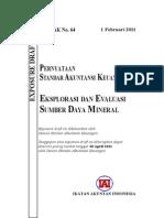 ED PSAK 64-Eksplorasi Dan Evaluasi Sumber Daya Mineral