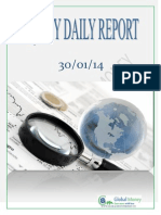Daily Equity Report by Global Mount Money 30-01-2014