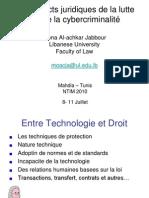 Les Aspects juridique de la lute contre la cyber criminalite