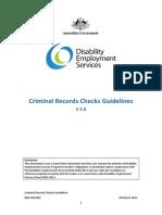 Criminal Records Checks Guidelines v 20