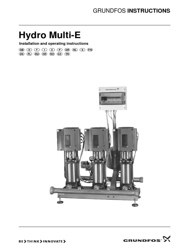 Grundfos Hydro Multi E Eng Mains Electricity Pump Pompa Celup Kp 150a