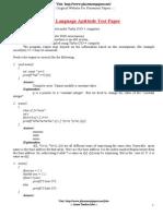 C Language Aptitude Test Paper by Placementpapers.net 1[1]