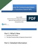 Countermeasures for Contaminated Water at TEPCO's Fukushima Daiichi NPS-1